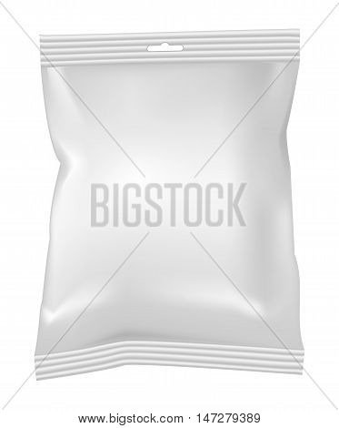 Packaging for snacks food chips sugar and spices. Isolated on a white background.