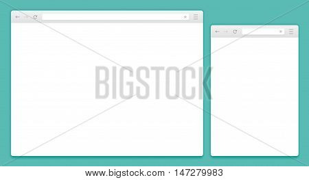 Abstract Design Vector Computer And Smartphone Browsers