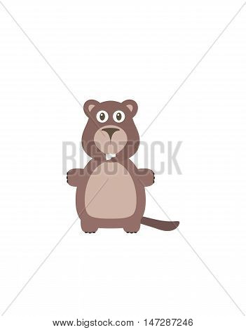 Funny Beaver Character