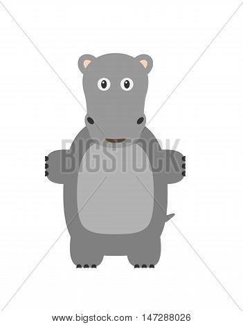 Funny Hippopotamus Character