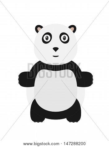 Funny Panda Character