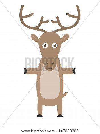 Funny Reindeer Character