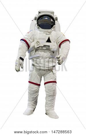 astronaut isolated on white background , spacesuite