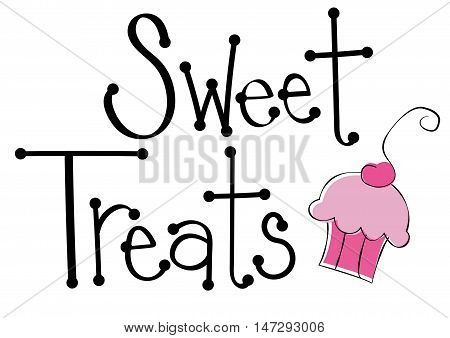 Yummy Pink Sweet Treats Cupcake Cake Dessert