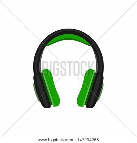 Vector headphones icon isolated on white background.