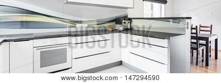 White Furniture In Kitchen