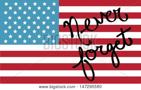 Never Forget Happy 4th of July American Flag