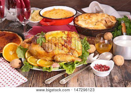 christmas or thanksgiving dinner
