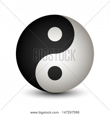 Yin Yang sphere symbol vector