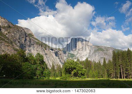 The sunset in Yosemite National Park CaliforniaUSA