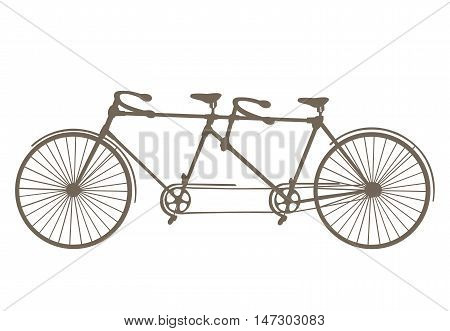 Bicycle silhouette isolated on white background. Vector.