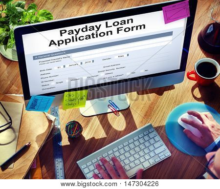 Payday Loan Application Form Concept