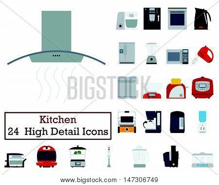 Set Of 24 Kitchen Icons