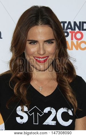 LOS ANGELES - SEP 9:  Karla Souza at the 5th Biennial Stand Up To Cancer at the Walt Disney Concert Hall on September 9, 2016 in Los Angeles, CA