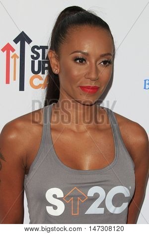 LOS ANGELES - SEP 9:  Melanie Brown, Mel B at the 5th Biennial Stand Up To Cancer at the Walt Disney Concert Hall on September 9, 2016 in Los Angeles, CA