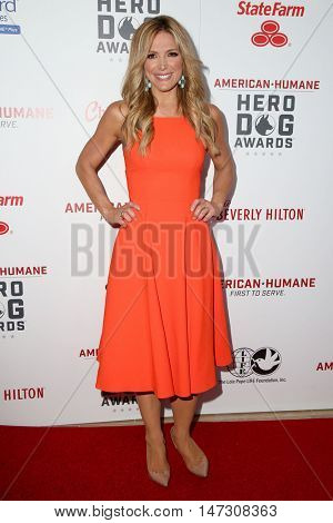 LOS ANGELES - SEP 10:  Debbie Matenopoulos at the 2016 American Humane Hero Dog Awards at the Beverly Hilton Hotel on September 10, 2016 in Beverly Hills, CA