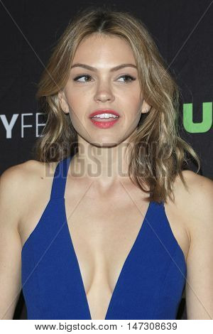 LOS ANGELES - SEP 10:  Aimee Teegarden at the PaleyFest 2016 Fall TV Preview - ABC at the Paley Center For Media on September 10, 2016 in Beverly Hills, CA