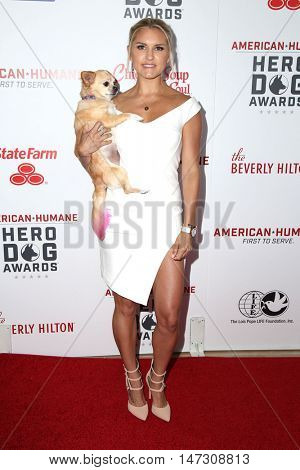 LOS ANGELES - SEP 10:  Rebecca Louise at the 2016 American Humane Hero Dog Awards at the Beverly Hilton Hotel on September 10, 2016 in Beverly Hills, CA