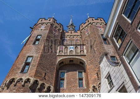 Medieval City Gate Sassenpoort In The Center Of Zwolle