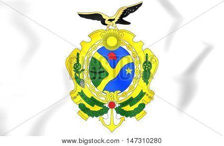 Amazonas Coat Of Arms, Brazil. 3D Illustration.