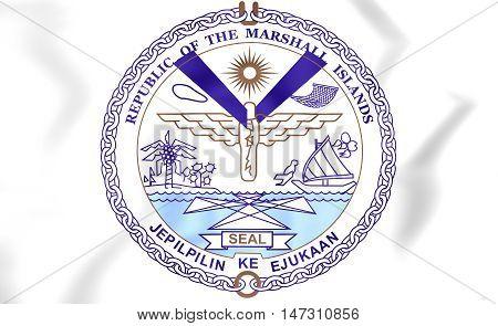 Republic Of Marshall Islands Seal. 3D Illustration.