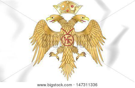 Palaiologos Dynasty Coat Of Arms. 3D Illustration.