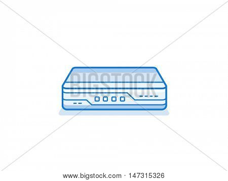 Soho network router icon. Networ equipment for small busines. Data network hardware series vector illustration