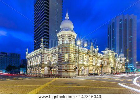 Facade of National textiles museum in Kuala Lumpur Malaysia