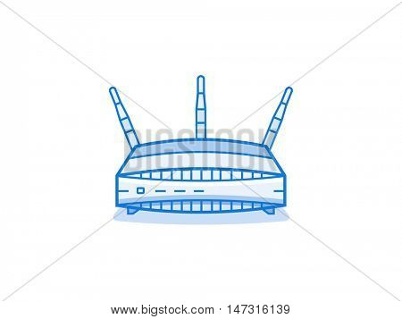 Wi-fi router icon. Network device series vector illustration