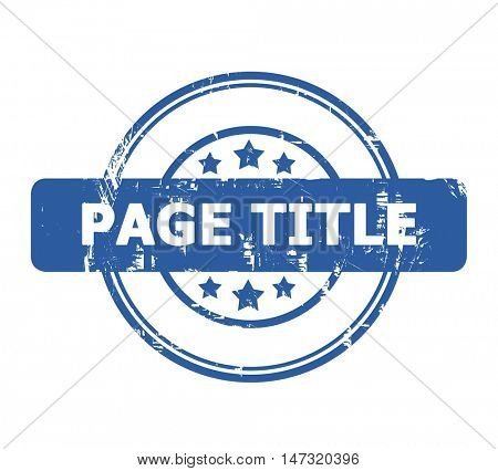 Page Title Stamp with stars isolated on a white background.