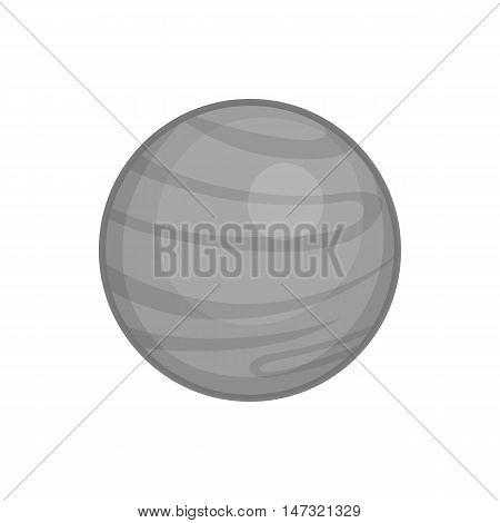 Jupiter planet icon in black monochrome style on a white background vector illustration