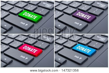 Donate Button On Computer Keyboard