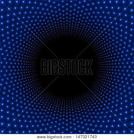 Black hole background pattern with dark center.