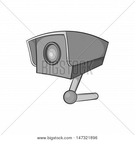 Surveillance camera icon in black monochrome style on a white background vector illustration