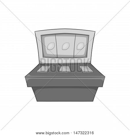 Slot machine icon in black monochrome style on a white background vector illustration