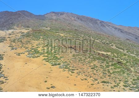 Volcanic Landscape In The National Park Of Teide, Tenerife, Spai