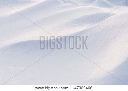 Winter beautiful white snowdrift close-up. Winter background.