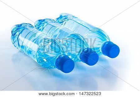 Bottle Of Fresh Water Isolated