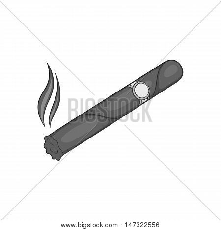 Cigar icon in black monochrome style on a white background vector illustration