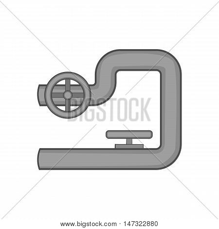 Petroleum pipeline icon in black monochrome style on a white background vector illustration
