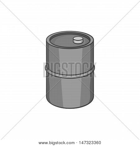 Oil barrel icon in black monochrome style on a white background vector illustration