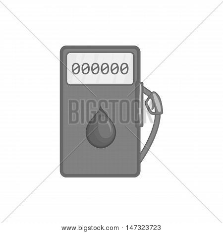 Gas station icon in black monochrome style on a white background vector illustration