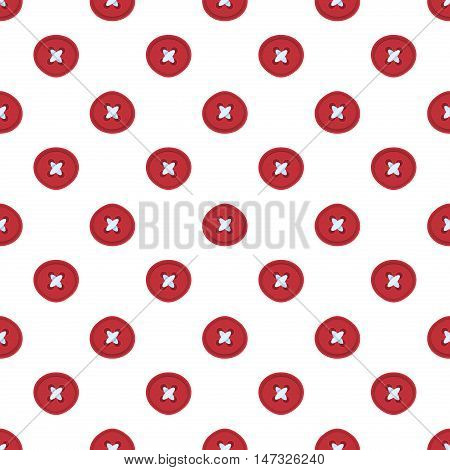 Cute button seamless pattern background vector. Red christmas texture fashion sewing textile fabric colorful button pattern. Xmas design button pattern greeting card retro handmade craft.