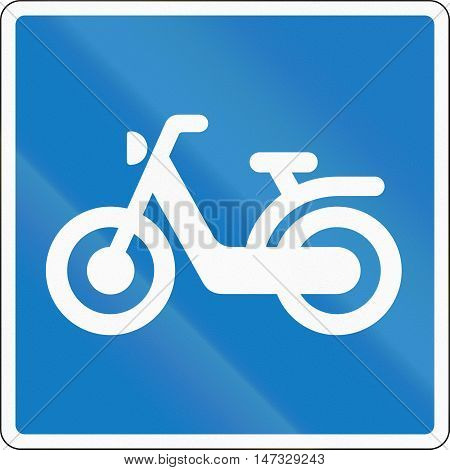 Road Sign Used In Denmark - Moped Route