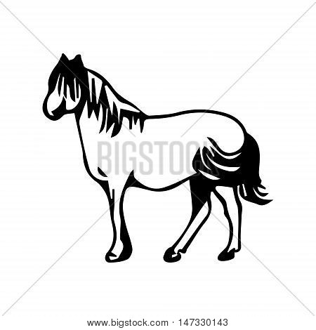 Horse pattern abstract image of a stallion on a white background vector illustration