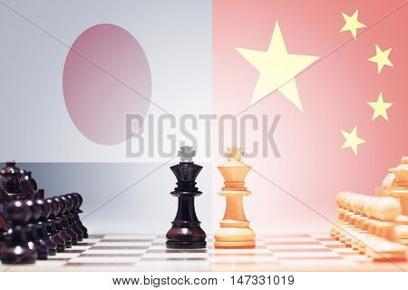 Chess game China vs Japan