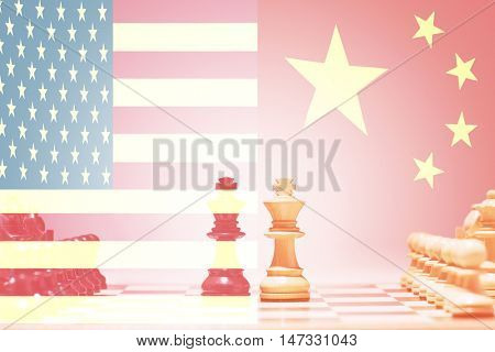 China vs USA Chess Game