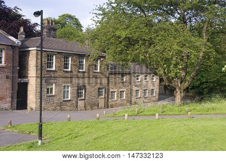 Sheffield, UK - 03 May : Meersbrook House covered in ivy on 03.May 2016 at Meersboork Park, Sheffield. Former home of the Ruskin Collection.