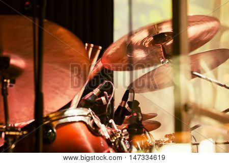 Drummer Plays On Cymbals, Old Style