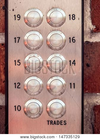 Entry phone keypad next to the doors to private property in London